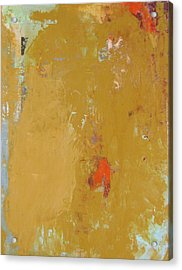 Untitled Abstract - Ochre Cinnabar Acrylic Print