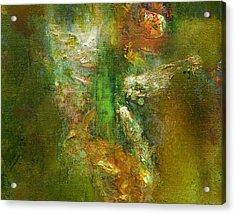Untitled Iris Acrylic Print by Petro Bevza