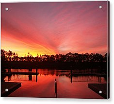 Untitled Sunset-3 Acrylic Print by Bill Lucas
