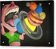 Up In Space Acrylic Print by Patricia Bergmen