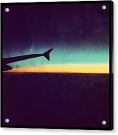 Up In The Air :) On My Way To #london Acrylic Print