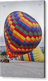 Up She Rises Hot Air Balloon Acrylic Print by Kantilal Patel