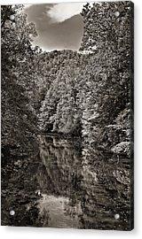 Up The Lazy River Monochrome Acrylic Print by Steve Harrington