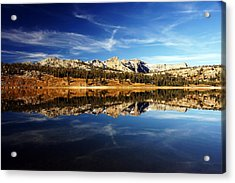 Upper Blue Lake Mirror 3 Acrylic Print