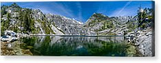 Upper Canyon Creek Lake Panorama Acrylic Print