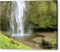 Upper Cascade Pool Multnomah Falls Or Acrylic Print