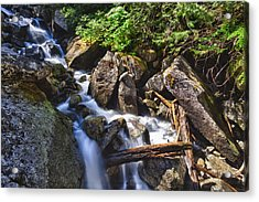 Upper Cascades Of Malchite Creek Acrylic Print