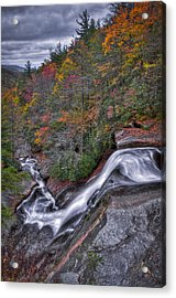 Acrylic Print featuring the photograph Upper Creek Falls by Williams-Cairns Photography LLC