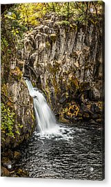 Acrylic Print featuring the photograph Upper Falls Mccloud River by Randy Wood