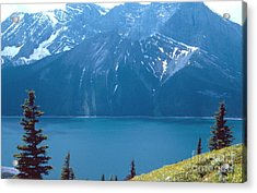 Upper Kananaskis Lake Acrylic Print by Jim Sauchyn