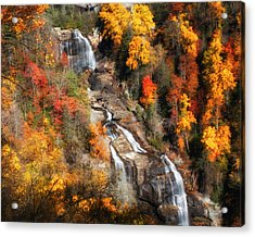 Upper Whitewater Falls Acrylic Print by Lynne Jenkins