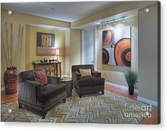 Upscale Living Room Interior Acrylic Print by Andersen Ross