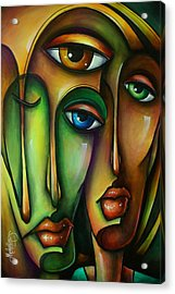 Urban Expressions Acrylic Print by Michael Lang