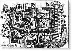Urban Monster 2 Acrylic Print by Mack Galixtar