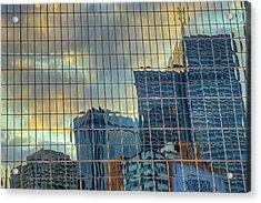 Urban Reflections Acrylic Print by Drew Castelhano