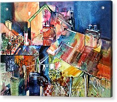 Acrylic Print featuring the painting Urban Sprawl 1 by Rae Andrews