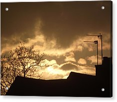 Urban Sunset In April 2012 Acrylic Print