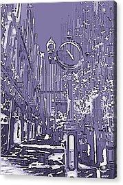 Urban Timepiece Acrylic Print by Tim Allen