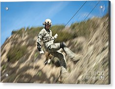 U.s. Air Force Airman Practices Acrylic Print by Stocktrek Images