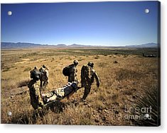 U.s. Air Force Pararescuemen Carry Acrylic Print by Stocktrek Images