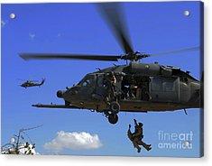 U.s. Air Force Pararescuemen Acrylic Print by Stocktrek Images