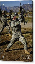 U.s. Air Force Soldier Practices Acrylic Print by Stocktrek Images
