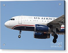 Us Airways Jet Airplane  - 5d18394 Acrylic Print by Wingsdomain Art and Photography