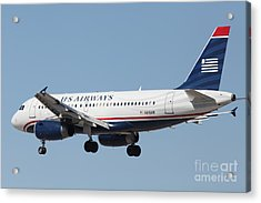 Us Airways Jet Airplane  - 5d18396 Acrylic Print by Wingsdomain Art and Photography