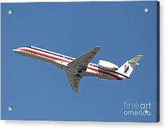 Us Airways Jet Airplane  - 5d18405 Acrylic Print by Wingsdomain Art and Photography