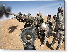 U.s. And Iraqi Artillerymen Train Acrylic Print by Stocktrek Images