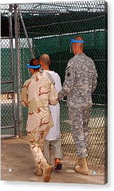 U.s. Army And Navy Guards Escort Acrylic Print by Everett