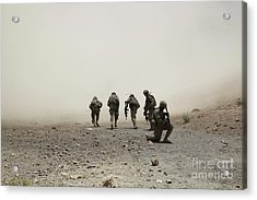 U.s. Army Captain Provides Security Acrylic Print by Stocktrek Images