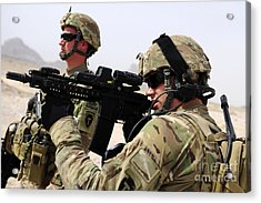 U.s. Army National Guards Pull Security Acrylic Print by Stocktrek Images