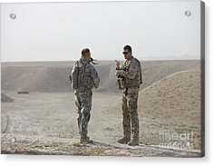 U.s. Army Soldier And German Soldier Acrylic Print by Terry Moore