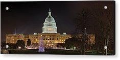 U.s. Capitol Christmas Tree 2009 Acrylic Print by Metro DC Photography