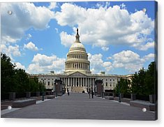 Acrylic Print featuring the photograph Us Capitol by Pravine Chester