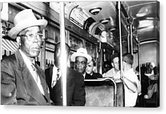 Us Civil Rights. Foreground, From Left Acrylic Print