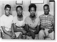Us Civil Rights. From Left High School Acrylic Print by Everett