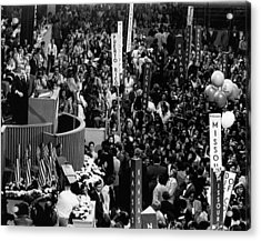 Us Elections.  At Podium, From Left  Us Acrylic Print