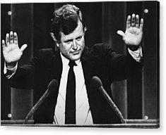 Us Elections. Us Senator Edward Kennedy Acrylic Print by Everett