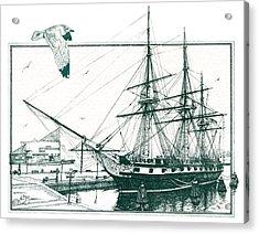 Us Frigate Constellation Acrylic Print by John D Benson