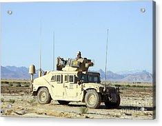 U.s. Marine Standing Ready Acrylic Print by Stocktrek Images