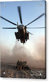 U.s. Marines Preparing To Attach An Acrylic Print by Stocktrek Images