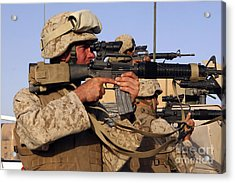U.s. Marines Sighting Acrylic Print by Stocktrek Images