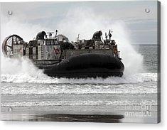 U.s. Navy Landing Craft Air Cushion Acrylic Print by Stocktrek Images