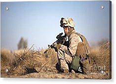 U.s. Navy Soldier Participates Acrylic Print by Stocktrek Images