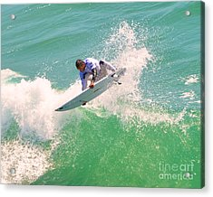 Us Open Of Surfing 2012       12 Acrylic Print by Jason Waugh