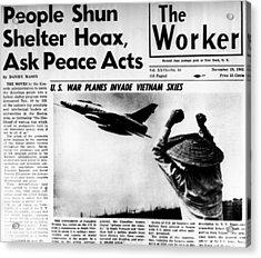 Us Planes Invade Vietnam Skies. An Acrylic Print by Everett