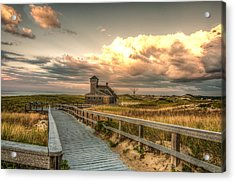 U.s. Rescue Station At Race Point Cap Cod Acrylic Print by Linda Pulvermacher