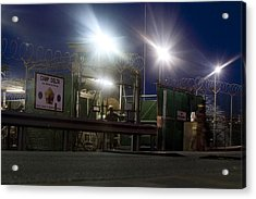 U.s. Sailor Exits A Controlled Entryway Acrylic Print by Everett